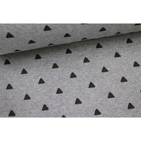Euro Ribbing, Smooth, Triangles Grey