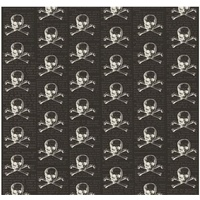 Riley Blake, L&F Halloween, Skull Black Glow