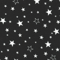 Robert Kaufman, Cozy Cotton, Stars Black, Flannel