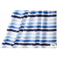 Lillestoff, Summer Jersey Stripes, Blue