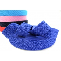 Waistband Elastic, Euro 40mm Diamond Pattern Blue