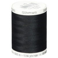 Gutermann, Sew All Thread 1000m, Colour 000, BLACK