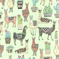 Michael Miller, Lovely Llamas Mint