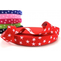 Waistband Elastic, Euro 25mm Stars Red/White