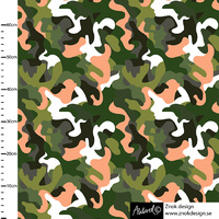 Znok Design, Camo Green/Peach, French Terry