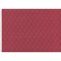 Swafing, Quilted Knit Diamonds, Bordeaux (Double-Sided)
