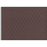 European Knit, Quilted, Diamonds, Dark Brown (Double-Sided) 78cm