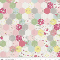 Riley Blake, Serendipity, Hexagon Pink