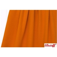 Lillestoff, Cotton Quilted Organic Knit, C/Orange