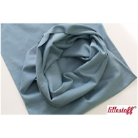 Lillestoff, Grey Blue, Solid, Organic GOTS Ribbing