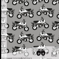PaaPii Design, GOTS Organic Jersey, Moped Grey