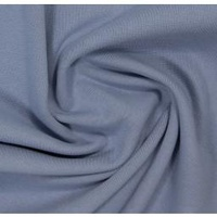 European Cotton Elastane Jersey, Solid, Oeko-Tex, Blue Grey