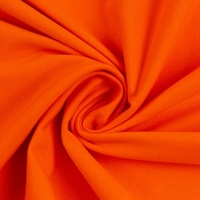 European Cotton Elastane Jersey, Solid, Oeko-Tex, Bright Orange