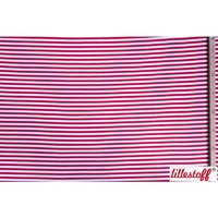Lillestoff, Organic Red/White Ribbing 25cm x 150cm