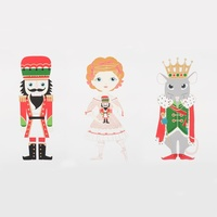 Alexander Henry, Nutcracker Panel Red Metallic