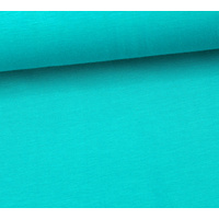European Ribbing, Organic GOTS, Smooth, Turquoise