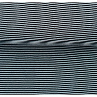 European Ribbing, Oeko-Tex, Heavy Weight, Light/Dark Blue Striped