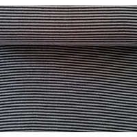 European Ribbing, Oeko-Tex, Heavy Weight, Black/Dark Grey Striped