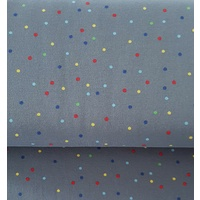 Euro Jersey, Oeko-Tex, Multi Colour Small Dots Grey 60cm
