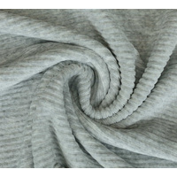 Euro Jersey, Ribbed, Mottled Light Grey 109cm