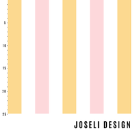 Joseli Design, Organic Jersey, Stripes Soft Pink/Yellow