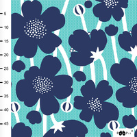 PaaPii Designs Organic Jersey Buttercup Turq Blueberry