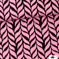 PaaPii Designs Organic Jersey Plait Light Pink/Black