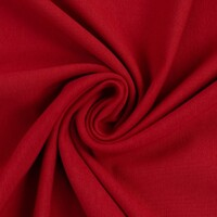 European Cotton Elastane Jersey, Solid, Oeko-Tex, Deep Red