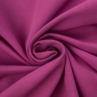 European Cotton Elastane Jersey, Solid, Oeko-Tex, Light Berry