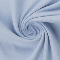 European Cotton Elastane Jersey, Solid, Oeko-Tex, Baby Blue
