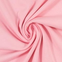 European Cotton Elastane Jersey, Solid, Oeko-Tex, Pink