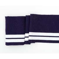 Swafing, Cuffing, Stripes, Navy Blue/White 13cm x 1m