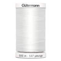 Gutermann, Sew-All Thread 500m, Colour 800, WHITE