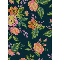 Cotton + Steel, Menagerie, Jardin De Paris, Navy, Rayon