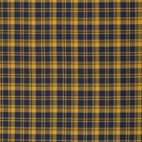 Euro Cotton Elastane Jersey Knit, Oeko-Tex, Plaid Dark Blue/Mustard