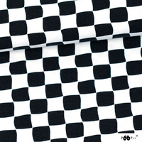 PaaPii Designs, GOTS Organic Jersey, Checkers Black & White