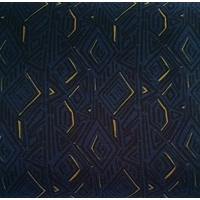 European Modal Blend French Terry Knit, Geometric, Dark Blue