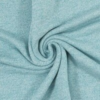 European Knit, 100% Cotton Light French Terry, Teal Melange