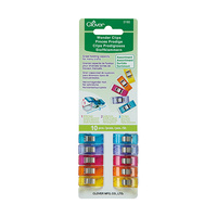 Clover, Wonder Clips Assorted Colours, 10 Piece Pack