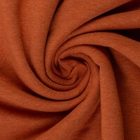 European Cotton Elastane Jersey, Oeko-Tex, Melange Terracotta