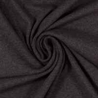 European Cotton Elastane Jersey, Oeko-Tex, Melange Charcoal Grey