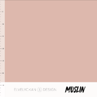 Elvelyckan Design, Oeko-Tex, 100% Cotton Muslin, Dusty Pink