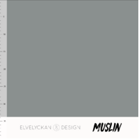 Elvelyckan Design, Oeko-Tex, 100% Cotton Muslin, Grey
