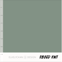 Elvelyckan Design, Oeko-Tex, Ribbed Knit, Green
