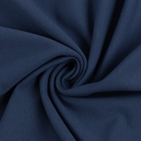 European Cotton Elastane Jersey, Oeko-Tex, Solid, Denim Blue