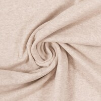 European Cotton Elastane Jersey, Oeko-Tex, Melange Off White