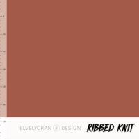 Elvelyckan Design, Oeko-Tex, Ribbed Knit, Rusty