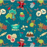 KK Fabrics, Aussie Christmas Delights, Preparation Teal