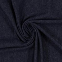 European Cotton Elastane Jersey Knit, Oeko-Tex, Denim Look, Dark Blue