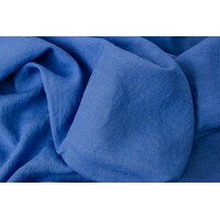 European Linen, Plain, Smoke Blue
